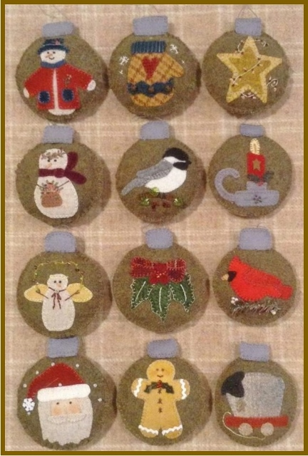 Attic Heirlooms 2015 Ornament of the Month~12 Month Pattern