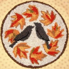 Autumn Crow Muted Rug Punch