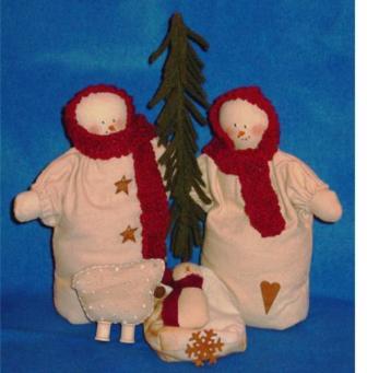 Snowman Nativity